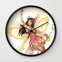 fairy Wall Clocks featuring Fairy by clayscence