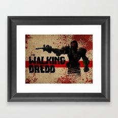 the walking dredd Framed Art Print