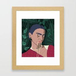 Frida, Mi Vida Framed Art Print