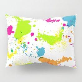 colorful paint blots Pillow Sham
