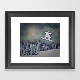 The Snowboarder Framed Art Print