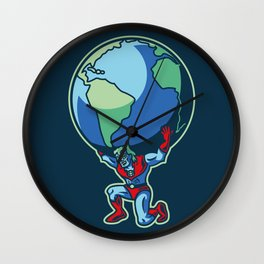 The Weight of the World Wall Clock