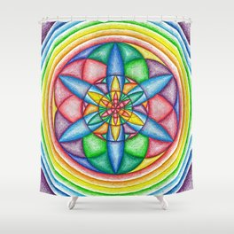 A Drop in the Rainbow Bucket - The Rainbow Tribe Collection Shower Curtain