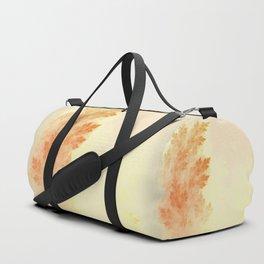 Conifer Pine Trees Ablaze in Autumn Orange Colors Duffle Bag