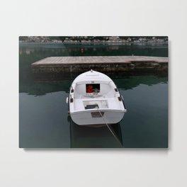 The White Boat Metal Print