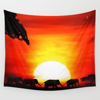 africa Wall Tapestries featuring Africa by Selina Morgan