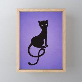 Gracious Evil Black Cat Framed Mini Art Print