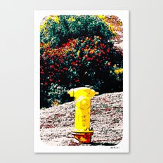 Yellow Fire Hydrant Comics Canvas Print