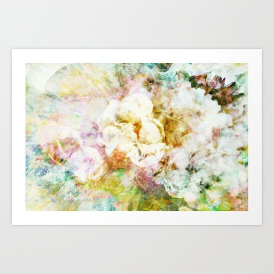 Soft Florals Art Print