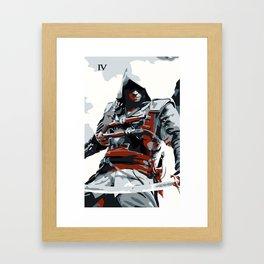 Assassin's Creed IV Black Flag Edward Minimalistic Framed Art Print