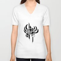 angel V-neck T-shirts featuring Angel by Abundance