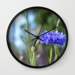 Purple Flowers @ Coastal Botanical Gardens (Maine) Wall Clock