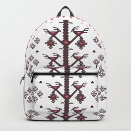 Tribal Ethnic Love Birds Kilim Rug Pattern Backpack