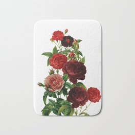 Vintage & Shabby Chic - Red Roses Bath Mat