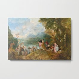 The Embarkation for Cythera, Jean Antoine Watteau, 1684 Metal Print