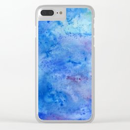 Mariana Trench Watercolor Texture Clear iPhone Case