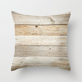 Rustic Barn Board Wood Plank Texture Throw Pillow
