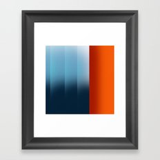 warm differences Framed Art Print