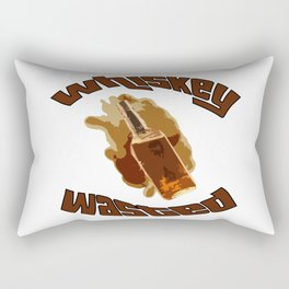 Whiskey Wasted Rectangular Pillow
