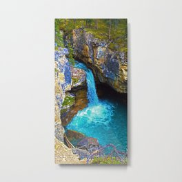 Stanley Waterfall & Beauty Creek, Jasper National Park Metal Print