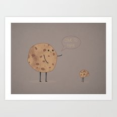 Cannibal Cookie Art Print