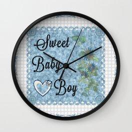 Sweet Baby Boy Wall Clock
