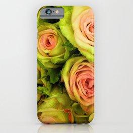 Green & Pink Bouquet iPhone Case