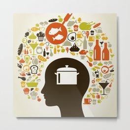 Head food5 Metal Print