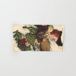 Vintage Scotland Bagpiper Map (1868) Hand & Bath Towel