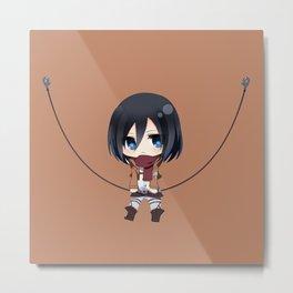 Mikasa Chibi Amazing Metal Print