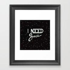 I NEED SPACE  Framed Art Print