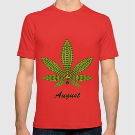 Birthstoned Leaf of Month, August Peridot T-shirt