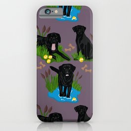 Collection of Black Labs  iPhone Case