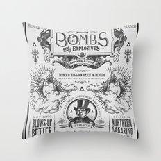 Legend of Zelda Bomb Advertisement Poster Throw Pillow