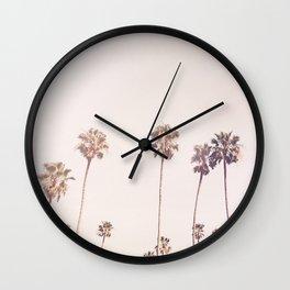 Sunny Cali Palm Trees Wall Clock