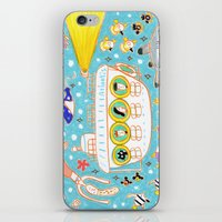 submarine iPhone & iPod Skins featuring submarine by AW illustrations