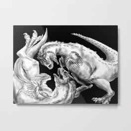 Playful Carnotaurus--Paleoart Metal Print