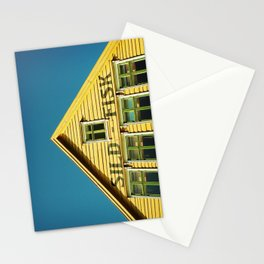 Sunny Yellow House Stationery Cards