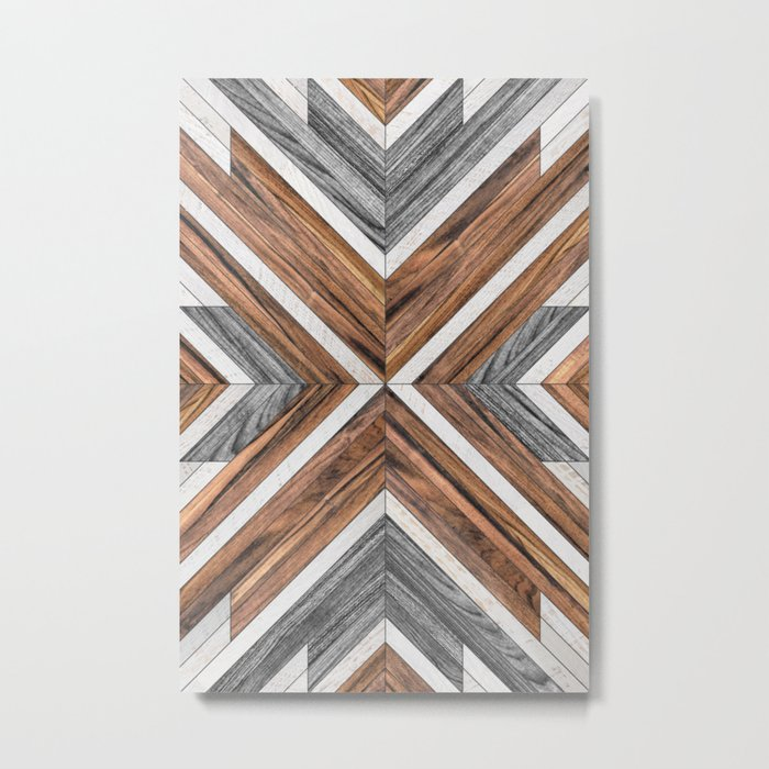 Urban Tribal Pattern No.4 - Wood Metal Print