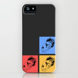 Lion SkullMine Tricolour iPhone Case