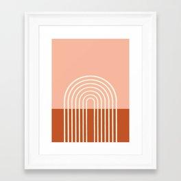 Terracota Pastel Framed Art Print