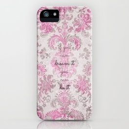 you can tapestry v. pink & raspberry iPhone Case