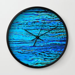 ripples on imagined water Wall Clock