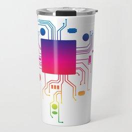 Perfect Gift Coding Tee For Programmer T-shirt Design Computer Code Programming Motherboard Cpu Travel Mug