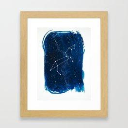 Leo Zodiac Print Framed Art Print