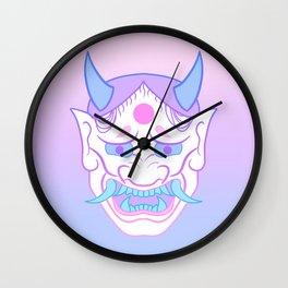 Hannya Mask (pastel) Wall Clock