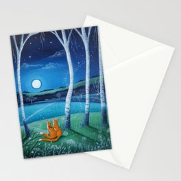 Moon gazers Stationery Cards