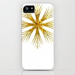 Gold Snowflake Design iPhone Case