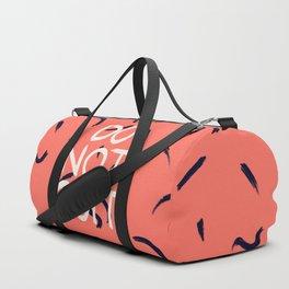 DO NOT QUIT #society6 #motivational Duffle Bag