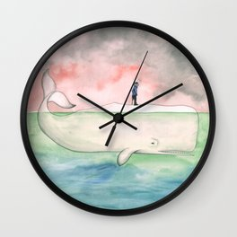 Just the Two of Us; or, The Whale Wall Clock